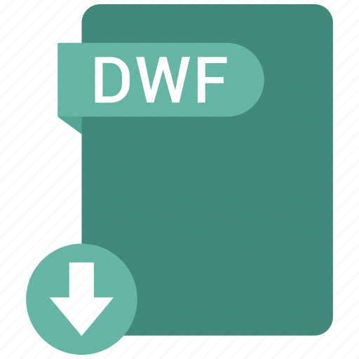 dwf, extension, file, format, paper icon