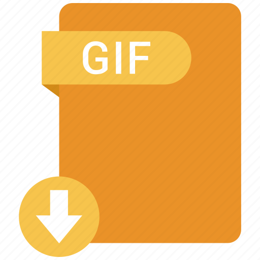 extension, file, format, gif, paper icon