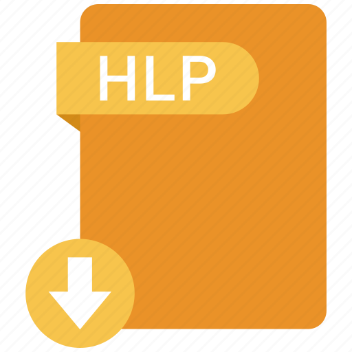 extension, file, format, hlp, paper icon