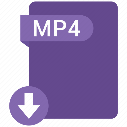 extension, file, format, mp4, paper icon