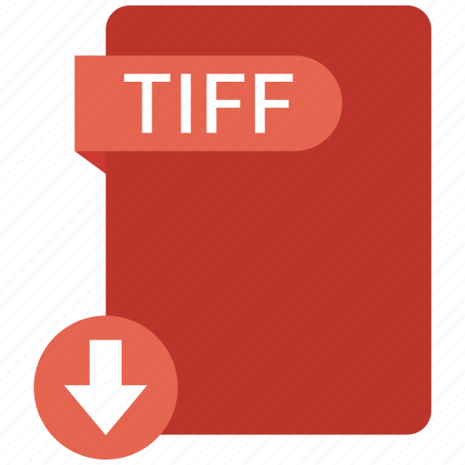 extension, file, format, paper, tiff icon