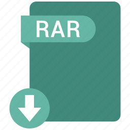 extension, file, format, paper, rar icon