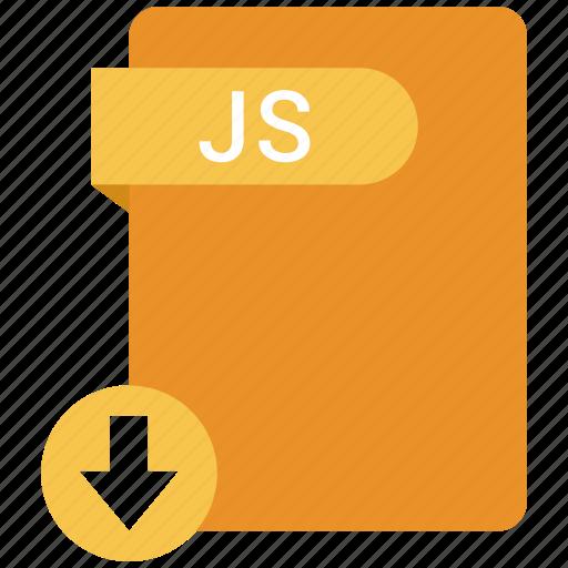extension, file, format, js, paper icon