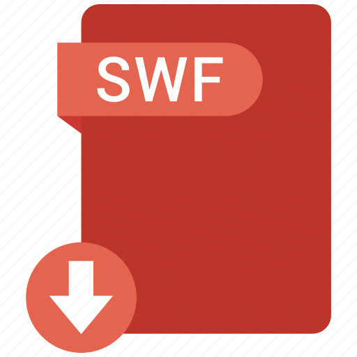 document, extension, folder, paper, swf icon