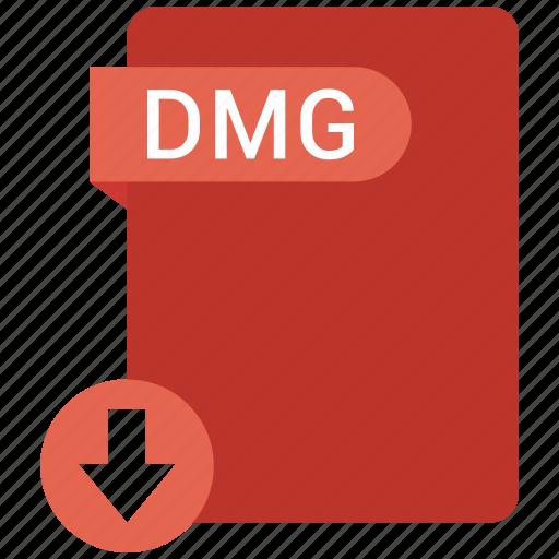 dmg, document, file, tag icon