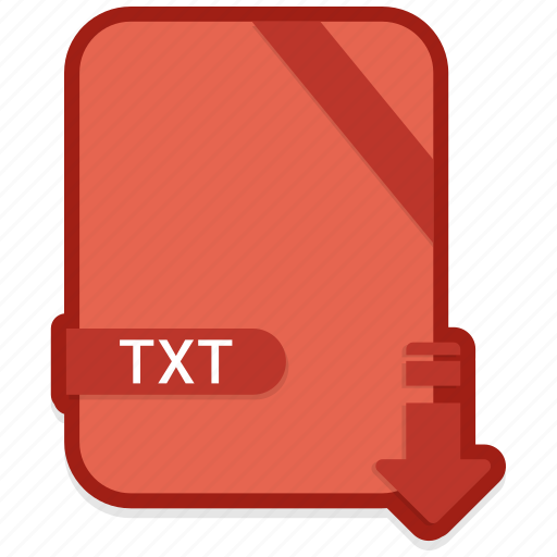 document, file, format, txt, type icon