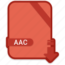 aac, document, file, format, type