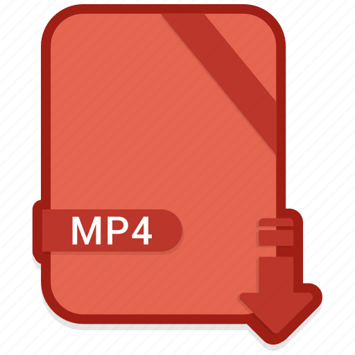 document, file, format, mp4, type icon