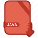 coding, extension, file, java icon