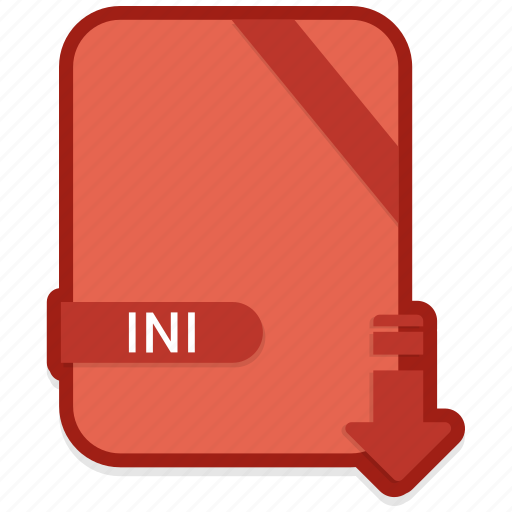 document, extension, format, ini, paper icon