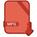 document, extension, format, mpg, paper icon
