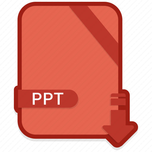 document, extension, format, paper, ppt icon
