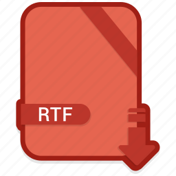 document, extension, format, paper, rtf icon