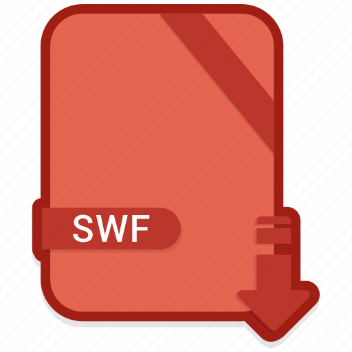 document, extension, format, paper, swf icon