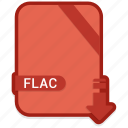 extention, flac, format, type icon