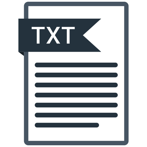 documents, file, format, paper, txt icon