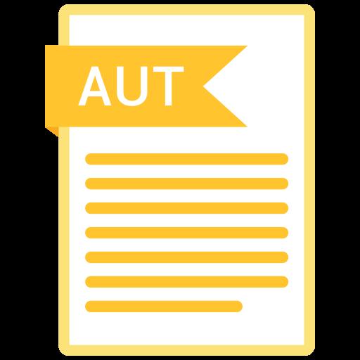 aut, documents, file, format, paper icon