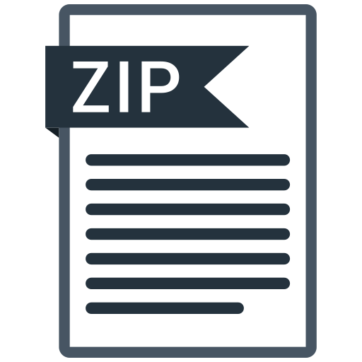 documents, file, format, paper, zip icon