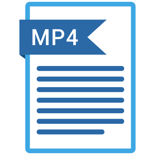 documents, file, format, mp4, paper icon
