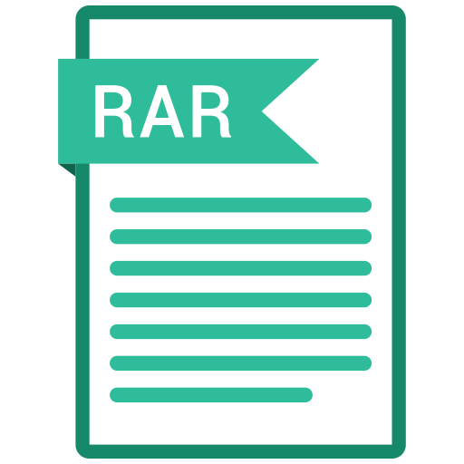 document, extension, folder, paper, rar icon