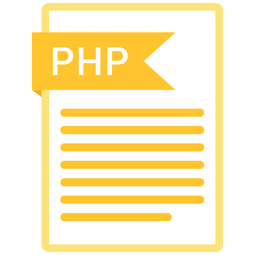 document, extension, folder, paper, php icon