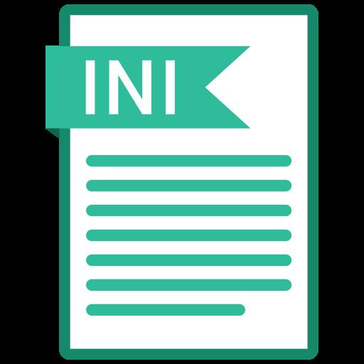 document, extension, folder, ini, paper icon