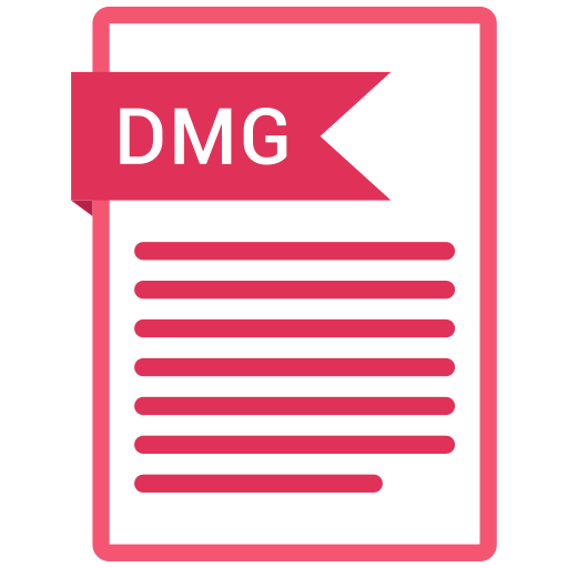 dmg, documents, file, format, paper icon
