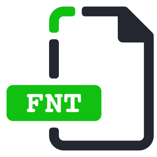 extension, file, fnt, font icon
