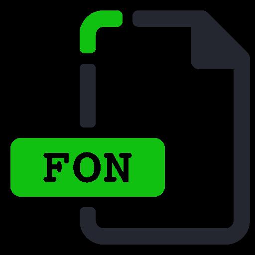 extension, file, fon, font icon