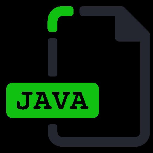 extension, file, java, program, programming icon