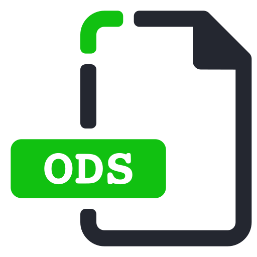 extension, file, ods, spreadsheet icon