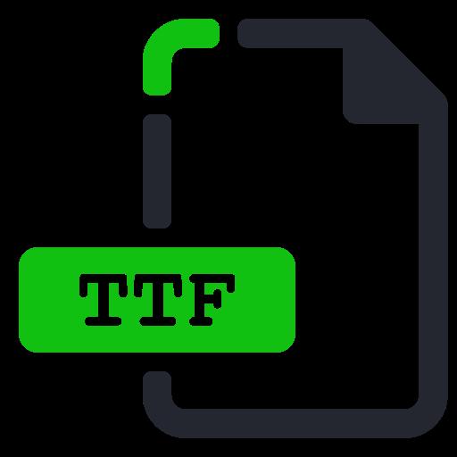 extension, file, font, ttf icon
