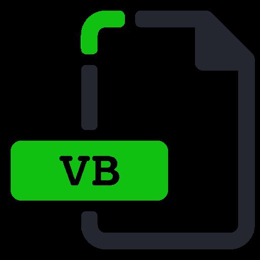 extension, file, program, programming, vb icon