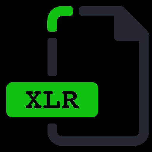 extension, file, spreadsheet, xlr icon