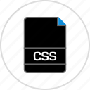 css, extension, file, name icon