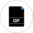 extension, file, gif, name icon