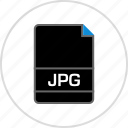 extension, file, jpg, name icon