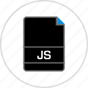 extension, file, js, name icon