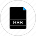 extension, file, name, rss icon