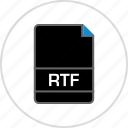 extension, file, name, rtf icon
