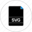 extension, file, name, svg name icon