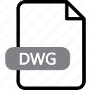 autocad, cad, dwg, extention, file, file type, format icon