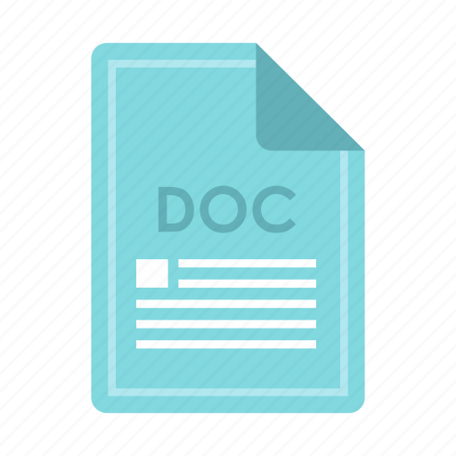 computer, concept, doc, extension, file, format, text icon