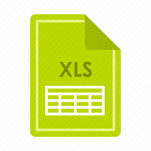 computer, concept, extension, file, format, text, xls icon