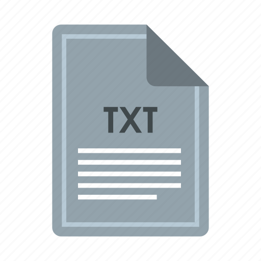 computer, concept, extension, file, format, text, txt icon