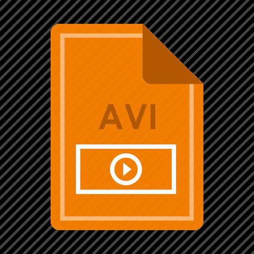 avi, file, film, properties, quality, video, watch icon