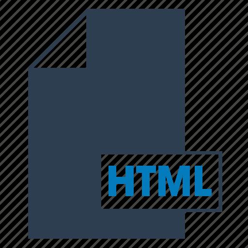 blue, file, format, html, web icon