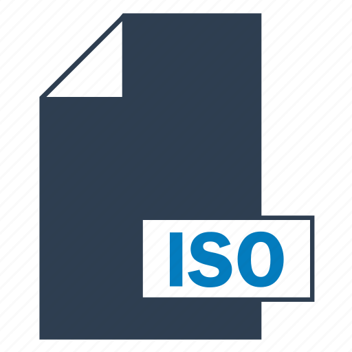 blue, file, format, iso icon