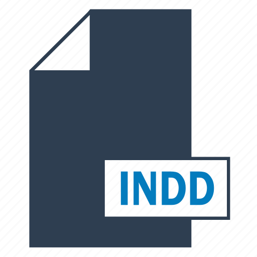 blue, file, format, indd, indesign icon