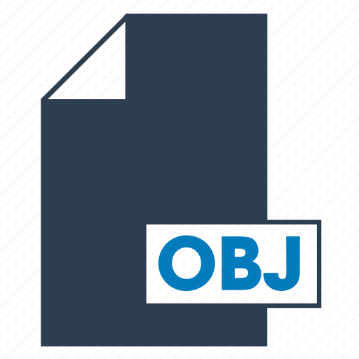blue, file, format, obj icon